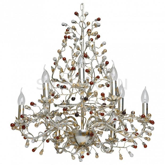 Подвесная люстра ChiaroБолее 6 ламп<br>Артикул - CH_298011609,Бренд - Chiaro (Германия),Коллекция - Виола,Гарантия, месяцы - 24,Высота, мм - 680-1480,Диаметр, мм - 650,Тип лампы - компактная люминесцентная [КЛЛ] ИЛИнакаливания ИЛИсветодиодная [LED],Общее кол-во ламп - 9,Напряжение питания лампы, В - 220,Максимальная мощность лампы, Вт - 40,Лампы в комплекте - отсутствуют,Цвет плафонов и подвесок - разноцветный,Тип поверхности плафонов - прозрачный,Материал плафонов и подвесок - стекло,Цвет арматуры - серебро с сусальным золотом,Тип поверхности арматуры - глянцевый,Материал арматуры - металл,Возможность подлючения диммера - можно, если установить лампу накаливания,Форма и тип колбы - свеча ИЛИ свеча на ветру,Тип цоколя лампы - E14,Класс электробезопасности - I,Общая мощность, Вт - 360,Степень пылевлагозащиты, IP - 20,Диапазон рабочих температур - комнатная температура,Дополнительные параметры - способ крепления светильника на потолке - на крюке, регулируется по высоте<br>