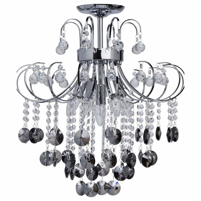Люстра на штанге De Markt5 или 6 ламп<br>Артикул - MW_464017905,Бренд - De Markt (Германия),Коллекция - Бриз,Гарантия, месяцы - 24,Высота, мм - 570,Диаметр, мм - 560,Тип лампы - компактная люминесцентная [КЛЛ] ИЛИнакаливания ИЛИсветодиодная [LED],Общее кол-во ламп - 5,Напряжение питания лампы, В - 220,Максимальная мощность лампы, Вт - 60,Лампы в комплекте - отсутствуют,Цвет плафонов и подвесок - черный,Тип поверхности плафонов - прозрачный,Материал плафонов и подвесок - хрусталь,Цвет арматуры - хром,Тип поверхности арматуры - глянцевый,Материал арматуры - металл,Возможность подлючения диммера - можно, если установить лампу накаливания,Форма и тип колбы - свеча,Тип цоколя лампы - E14,Класс электробезопасности - I,Общая мощность, Вт - 300,Степень пылевлагозащиты, IP - 20,Диапазон рабочих температур - комнатная температура,Дополнительные параметры - способ крепления светильника к потолку — на монтажной пластине<br>