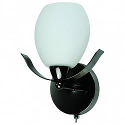 Бра IDLampС 1 лампой<br>Артикул - ID_601_1a-MOONdarkchrome,Бренд - IDLamp (Италия),Коллекция - 601,Гарантия, месяцы - 24,Время изготовления, дней - 1,Высота, мм - 220,Тип лампы - компактная люминесцентная [КЛЛ] ИЛИнакаливания ИЛИсветодиодная [LED],Общее кол-во ламп - 1,Напряжение питания лампы, В - 220,Максимальная мощность лампы, Вт - 60,Лампы в комплекте - отсутствуют,Цвет плафонов и подвесок - белый,Тип поверхности плафонов - матовый,Материал плафонов и подвесок - стекло,Цвет арматуры - никель черный,Тип поверхности арматуры - глянцевый,Материал арматуры - металл,Возможность подлючения диммера - можно, если установить лампу накаливания,Тип цоколя лампы - E14,Класс электробезопасности - I,Степень пылевлагозащиты, IP - 20,Диапазон рабочих температур - комнатная температура,Дополнительные параметры - светильник предназначен для использования со скрытой проводкой<br>
