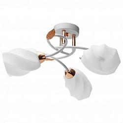 Потолочная люстра IDLampНе более 4 ламп<br>Артикул - ID_384_3PF-Whitegold,Бренд - IDLamp (Италия),Коллекция - 384,Высота, мм - 210,Диаметр, мм - 500,Тип лампы - компактная люминесцентная [КЛЛ] ИЛИнакаливания ИЛИсветодиодная [LED],Общее кол-во ламп - 3,Напряжение питания лампы, В - 220,Максимальная мощность лампы, Вт - 60,Лампы в комплекте - отсутствуют,Цвет плафонов и подвесок - белый,Тип поверхности плафонов - матовый, рельефный,Материал плафонов и подвесок - стекло,Цвет арматуры - белый, золото,Тип поверхности арматуры - глянцевый,Материал арматуры - металл,Возможность подлючения диммера - можно, если установить лампу накаливания,Тип цоколя лампы - E14,Класс электробезопасности - I,Общая мощность, Вт - 180,Степень пылевлагозащиты, IP - 20,Диапазон рабочих температур - комнатная температура,Дополнительные параметры - способ крепления светильника к потолку – на монтажной пластине<br>