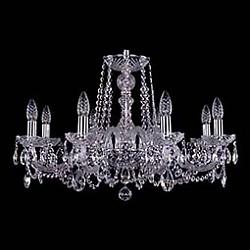 Подвесная люстра Bohemia Ivele CrystalБолее 6 ламп<br>Артикул - BI_1402_8_240_Ni,Бренд - Bohemia Ivele Crystal (Чехия),Коллекция - 1402,Гарантия, месяцы - 24,Высота, мм - 440,Диаметр, мм - 570,Размер упаковки, мм - 510x510x200,Тип лампы - компактная люминесцентная [КЛЛ] ИЛИнакаливания ИЛИсветодиодная [LED],Общее кол-во ламп - 8,Напряжение питания лампы, В - 220,Максимальная мощность лампы, Вт - 40,Лампы в комплекте - отсутствуют,Цвет плафонов и подвесок - неокрашенный,Тип поверхности плафонов - прозрачный,Материал плафонов и подвесок - хрусталь,Цвет арматуры - неокрашенный, никель,Тип поверхности арматуры - глянцевый, прозрачный, рельефный,Материал арматуры - металл, стекло,Возможность подлючения диммера - можно, если установить лампу накаливания,Форма и тип колбы - свеча ИЛИ свеча на ветру,Тип цоколя лампы - E14,Класс электробезопасности - I,Общая мощность, Вт - 320,Степень пылевлагозащиты, IP - 20,Диапазон рабочих температур - комнатная температура,Дополнительные параметры - способ крепления светильника к потолку - на крюке, указана высота светильника без подвеса<br>