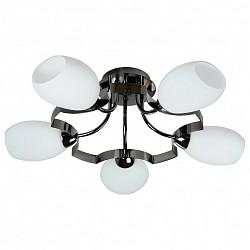 Потолочная люстра IDLamp5 или 6 ламп<br>Артикул - ID_601_5PF-MOONdarkchrome,Бренд - IDLamp (Италия),Коллекция - 601,Гарантия, месяцы - 24,Высота, мм - 280,Диаметр, мм - 590,Тип лампы - компактная люминесцентная [КЛЛ] ИЛИнакаливания ИЛИсветодиодная [LED],Общее кол-во ламп - 5,Напряжение питания лампы, В - 220,Максимальная мощность лампы, Вт - 60,Лампы в комплекте - отсутствуют,Цвет плафонов и подвесок - белый,Тип поверхности плафонов - матовый,Материал плафонов и подвесок - стекло,Цвет арматуры - никель черный,Тип поверхности арматуры - глянцевый,Материал арматуры - металл,Возможность подлючения диммера - можно, если установить лампу накаливания,Тип цоколя лампы - E14,Класс электробезопасности - I,Общая мощность, Вт - 300,Степень пылевлагозащиты, IP - 20,Диапазон рабочих температур - комнатная температура,Дополнительные параметры - способ крепления светильника к потолку — на монтажной пластине<br>