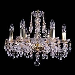 Подвесная люстра Bohemia Ivele Crystal5 или 6 ламп<br>Артикул - BI_1410_6_160_G_V0300,Бренд - Bohemia Ivele Crystal (Чехия),Коллекция - 1410,Гарантия, месяцы - 24,Высота, мм - 390,Диаметр, мм - 480,Размер упаковки, мм - 450x450x200,Тип лампы - компактная люминесцентная [КЛЛ] ИЛИнакаливания ИЛИсветодиодная [LED],Общее кол-во ламп - 6,Напряжение питания лампы, В - 220,Максимальная мощность лампы, Вт - 40,Лампы в комплекте - отсутствуют,Цвет плафонов и подвесок - белый, неокрашенный,Тип поверхности плафонов - матовый, прозрачный,Материал плафонов и подвесок - хрусталь,Цвет арматуры - золото, неокрашенный,Тип поверхности арматуры - глянцевый, прозрачный, рельефный,Материал арматуры - металл, стекло,Возможность подлючения диммера - можно, если установить лампу накаливания,Форма и тип колбы - свеча ИЛИ свеча на ветру,Тип цоколя лампы - E14,Класс электробезопасности - I,Общая мощность, Вт - 240,Степень пылевлагозащиты, IP - 20,Диапазон рабочих температур - комнатная температура,Дополнительные параметры - способ крепления светильника к потолку - на крюке, указана высота светильника без подвеса<br>