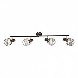 Спот GloboС 4 лампами<br>Артикул - GB_54801-4,Бренд - Globo (Австрия),Коллекция - Akin,Гарантия, месяцы - 24,Тип лампы - компактная люминесцентная [КЛЛ] ИЛИнакаливания ИЛИсветодиодная [LED],Общее кол-во ламп - 4,Напряжение питания лампы, В - 220,Максимальная мощность лампы, Вт - 40,Лампы в комплекте - отсутствуют,Цвет плафонов и подвесок - кофейный,Тип поверхности плафонов - матовый,Материал плафонов и подвесок - металл,Цвет арматуры - кофейный,Тип поверхности арматуры - матовый,Материал арматуры - металл,Возможность подлючения диммера - можно, если установить лампу накаливания,Тип цоколя лампы - E14,Класс электробезопасности - I,Общая мощность, Вт - 160,Степень пылевлагозащиты, IP - 20,Диапазон рабочих температур - комнатная температура,Дополнительные параметры - способ крепления светильника к потолку и стене - на монтажной пластине, поворотный светильник<br>