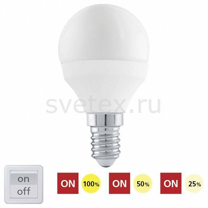 Лампа светодиодная диммируемая Egloлампы энергосберегающие светодиодные<br>Артикул - EG_11584,Бренд - Eglo (Австрия),Коллекция - P45,Время изготовления, дней - 1,Высота, мм - 80,Диаметр, мм - 45,Тип лампы - светодиодная [LED],Напряжение питания лампы, В - 220,Максимальная мощность лампы, Вт - 6,Цвет лампы - белый,Возможность подлючения диммера - можно,Форма и тип колбы - сферическая матовая,Тип цоколя лампы - E14,Цветовая температура, K - 4000 K,Световой поток, лм - 470,Экономичнее лампы накаливания - в 7.8 раза,Светоотдача, лм/Вт - 78,Ресурс лампы - 15 тыс. часов,Дополнительные параметры - 3 шаговое димрование (25%, 50%, 100%),Класс энергопотребления - A<br>