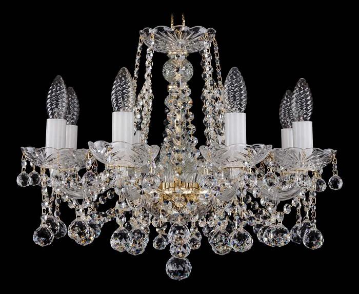 Фото Подвесная люстра Bohemia Ivele Crystal 1413 1413/8/165/G/Balls