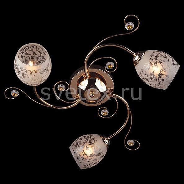 Фото Потолочная люстра Eurosvet 9677 9677/3 золото