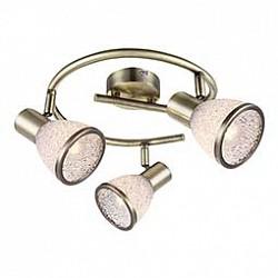 Спот GloboС 3 лампами<br>Артикул - GB_56046-3,Бренд - Globo (Австрия),Коллекция - Elsa,Гарантия, месяцы - 24,Диаметр, мм - 250,Размер упаковки, мм - 260x110x260,Тип лампы - светодиодная [LED],Общее кол-во ламп - 3,Напряжение питания лампы, В - 220,Максимальная мощность лампы, Вт - 4,Лампы в комплекте - светодиодные [LED] E14,Цвет плафонов и подвесок - неокрашенный с каймой,Тип поверхности плафонов - матовый,Материал плафонов и подвесок - акрил,Цвет арматуры - бронза античная,Тип поверхности арматуры - матовый,Материал арматуры - металл,Возможность подлючения диммера - нельзя,Тип цоколя лампы - E14,Класс электробезопасности - I,Общая мощность, Вт - 12,Степень пылевлагозащиты, IP - 20,Диапазон рабочих температур - комнатная температура,Дополнительные параметры - способ крепления светильника к стене и потолку - на монтажной пластине, поворотный светильник<br>