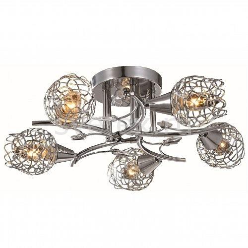 Потолочная люстра ToscomСветильники<br>Артикул - TO_TC-992-505,Бренд - Toscom (Китай),Коллекция - Dionis,Гарантия, месяцы - 24,Высота, мм - 170,Диаметр, мм - 580,Размер упаковки, мм - 790x400x395,Тип лампы - компактная люминесцентная [КЛЛ] ИЛИнакаливания ИЛИсветодиодная [LED],Общее кол-во ламп - 5,Напряжение питания лампы, В - 220,Максимальная мощность лампы, Вт - 60,Лампы в комплекте - отсутствуют,Цвет плафонов и подвесок - неокрашенный, хром,Тип поверхности плафонов - глянцевый, прозрачный,Материал плафонов и подвесок - металл, хрусталь,Цвет арматуры - хром,Тип поверхности арматуры - глянцевый,Материал арматуры - металл,Количество плафонов - 5,Возможность подлючения диммера - можно, если установить лампу накаливания,Тип цоколя лампы - E14,Класс электробезопасности - I,Общая мощность, Вт - 300,Степень пылевлагозащиты, IP - 20,Диапазон рабочих температур - комнатная температура,Дополнительные параметры - способ крепления светильника к потолку - на монтажной пластине<br>