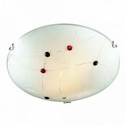 Накладной светильник SonexКруглые<br>Артикул - SN_206,Бренд - Sonex (Россия),Коллекция - Kave,Гарантия, месяцы - 24,Высота, мм - 100,Диаметр, мм - 400,Размер упаковки, мм - 140x420x420,Тип лампы - компактная люминесцентная [КЛЛ] ИЛИнакаливания ИЛИсветодиодная [LED],Общее кол-во ламп - 2,Напряжение питания лампы, В - 220,Максимальная мощность лампы, Вт - 100,Лампы в комплекте - отсутствуют,Цвет плафонов и подвесок - белый с рисунком, красный, неокрашенный, черный,Тип поверхности плафонов - матовый, прозрачный,Материал плафонов и подвесок - стекло,Цвет арматуры - хром,Тип поверхности арматуры - глянцевый,Материал арматуры - металл,Возможность подлючения диммера - можно, если установить лампу накаливания,Тип цоколя лампы - E27,Класс электробезопасности - I,Общая мощность, Вт - 200,Степень пылевлагозащиты, IP - 20,Диапазон рабочих температур - комнатная температура,Дополнительные параметры - способ крепления светильника к потолку - на монтажной пластине<br>