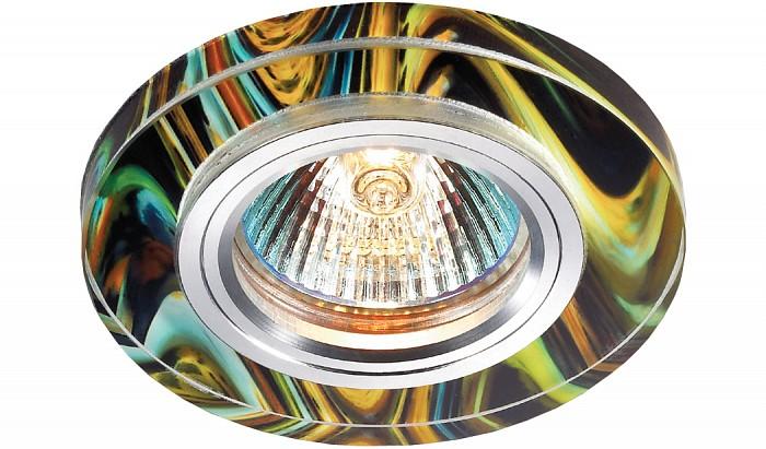 Встраиваемый светильник NovotechКруглые<br>Артикул - NV_369913,Бренд - Novotech (Венгрия),Коллекция - Rainbow,Гарантия, месяцы - 24,Время изготовления, дней - 1,Выступ, мм - 13,Глубина, мм - 12,Диаметр, мм - 90,Размер врезного отверстия, мм - 65,Тип лампы - галогеновая ИЛИсветодиодная [LED],Общее кол-во ламп - 1,Напряжение питания лампы, В - 12,Максимальная мощность лампы, Вт - 50,Цвет лампы - белый теплый,Лампы в комплекте - отсутствуют,Цвет арматуры - алюминий, цветной рисунок,Тип поверхности арматуры - глянцевый,Материал арматуры - алюминиевый сплав, стекло,Количество плафонов - 1,Возможность подлючения диммера - можно, если установить галогеновую лампу и подключить трансформатор 12 В с возможностью диммирования,Необходимые компоненты - трансформатор 12 В,Компоненты, входящие в комплект - нет,Форма и тип колбы - полусферическая с рефлектором,Тип цоколя лампы - GX5.3,Цветовая температура, K - 2800 - 3200 K,Экономичнее лампы накаливания - на 50%,Класс электробезопасности - III,Напряжение питания, В - 220,Общая мощность, Вт - 50,Степень пылевлагозащиты, IP - 20,Диапазон рабочих температур - комнатная температура,Дополнительные параметры - электрохимическая полировка арматуры<br>