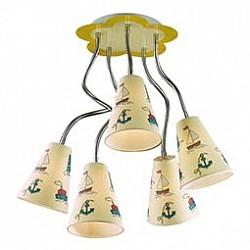 Накладной светильник Odeon LightСветодиодные<br>Артикул - OD_2281_5,Бренд - Odeon Light (Италия),Коллекция - Dream,Гарантия, месяцы - 24,Высота, мм - 500,Диаметр, мм - 350,Тип лампы - компактная люминесцентная [КЛЛ] ИЛИнакаливания ИЛИсветодиодная [LED],Общее кол-во ламп - 5,Напряжение питания лампы, В - 220,Максимальная мощность лампы, Вт - 40,Лампы в комплекте - отсутствуют,Цвет плафонов и подвесок - белый с цветным рисунком,Тип поверхности плафонов - матовый,Материал плафонов и подвесок - текстиль,Цвет арматуры - белый, желтый, хром,Тип поверхности арматуры - глянцевый,Материал арматуры - металл,Возможность подлючения диммера - можно, если установить лампу накаливания,Тип цоколя лампы - E14,Класс электробезопасности - I,Общая мощность, Вт - 200,Степень пылевлагозащиты, IP - 20,Диапазон рабочих температур - комнатная температура,Дополнительные параметры - диаметр основания светильника 350 мм<br>