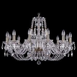 Подвесная люстра Bohemia Ivele CrystalБолее 6 ламп<br>Артикул - BI_1406_12_300_Pa,Бренд - Bohemia Ivele Crystal (Чехия),Коллекция - 1406,Гарантия, месяцы - 24,Высота, мм - 530,Диаметр, мм - 820,Размер упаковки, мм - 610x610x200,Тип лампы - компактная люминесцентная [КЛЛ] ИЛИнакаливания ИЛИсветодиодная [LED],Общее кол-во ламп - 12,Напряжение питания лампы, В - 220,Максимальная мощность лампы, Вт - 40,Лампы в комплекте - отсутствуют,Цвет плафонов и подвесок - неокрашенный,Тип поверхности плафонов - прозрачный,Материал плафонов и подвесок - хрусталь,Цвет арматуры - неокрашенный, патина,Тип поверхности арматуры - глянцевый, прозрачный,Материал арматуры - металл, стекло,Возможность подлючения диммера - можно, если установить лампу накаливания,Форма и тип колбы - свеча,Тип цоколя лампы - E14,Класс электробезопасности - I,Общая мощность, Вт - 480,Степень пылевлагозащиты, IP - 20,Диапазон рабочих температур - комнатная температура,Дополнительные параметры - способ крепления светильника к потолку – на крюке<br>