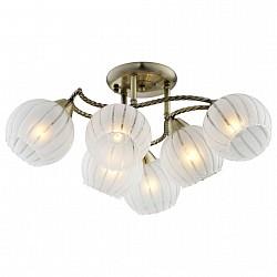 Потолочная люстра IDLamp5 или 6 ламп<br>Артикул - ID_244_6PF-Oldbronze,Бренд - IDLamp (Италия),Коллекция - 244,Высота, мм - 280,Диаметр, мм - 570,Тип лампы - компактная люминесцентная [КЛЛ] ИЛИнакаливания ИЛИсветодиодная [LED],Общее кол-во ламп - 6,Напряжение питания лампы, В - 220,Максимальная мощность лампы, Вт - 60,Лампы в комплекте - отсутствуют,Цвет плафонов и подвесок - белый полосатый,Тип поверхности плафонов - матовый,Материал плафонов и подвесок - стекло,Цвет арматуры - бронза античная,Тип поверхности арматуры - глянцевый,Материал арматуры - металл,Возможность подлючения диммера - можно, если установить лампу накаливания,Тип цоколя лампы - E27,Класс электробезопасности - I,Общая мощность, Вт - 360,Степень пылевлагозащиты, IP - 20,Диапазон рабочих температур - комнатная температура,Дополнительные параметры - способ крепления светильника к потолку – на монтажной пластине<br>