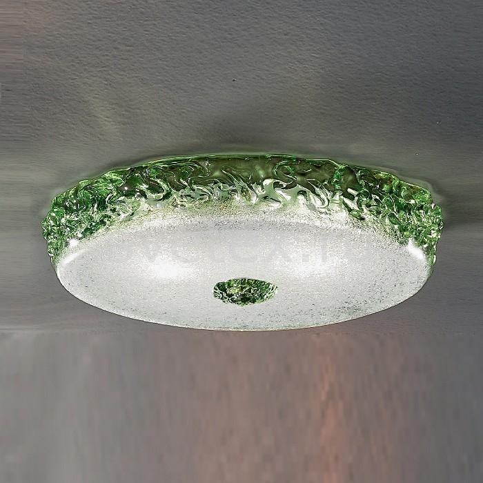 Накладной светильник Verti LampКруглые<br>Артикул - VL_999-40_cristallo-verde_oliva,Бренд - Verti Lamp (Италия),Коллекция - 999,Гарантия, месяцы - 24,Время изготовления, дней - 30,Высота, мм - 80,Диаметр, мм - 400,Тип лампы - компактная люминесцентная [КЛЛ] ИЛИнакаливания ИЛИсветодиодная [LED],Общее кол-во ламп - 2,Напряжение питания лампы, В - 220,Максимальная мощность лампы, Вт - 60,Лампы в комплекте - отсутствуют,Цвет плафонов и подвесок - белый, зеленый,Тип поверхности плафонов - матовый, прозрачный, рельефный,Материал плафонов и подвесок - стекло,Цвет арматуры - хром,Тип поверхности арматуры - глянцевый,Материал арматуры - металл,Количество плафонов - 1,Возможность подлючения диммера - можно, если установить лампу накаливания,Тип цоколя лампы - E14,Класс электробезопасности - I,Общая мощность, Вт - 120,Степень пылевлагозащиты, IP - 20,Диапазон рабочих температур - комнатная температура,Дополнительные параметры - способ крепления светильника к потолку - на монтажной пластине<br>