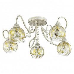 Потолочная люстра Lumion5 или 6 ламп<br>Артикул - LMN_3123_5C,Бренд - Lumion (Италия),Коллекция - Orianna,Гарантия, месяцы - 24,Высота, мм - 250,Диаметр, мм - 570,Размер упаковки, мм - 270x330x450,Тип лампы - компактная люминесцентная [КЛЛ] ИЛИнакаливания ИЛИсветодиодная [LED],Общее кол-во ламп - 5,Напряжение питания лампы, В - 220,Максимальная мощность лампы, Вт - 40,Лампы в комплекте - отсутствуют,Цвет плафонов и подвесок - неокрашенный с золотым рисунком,Тип поверхности плафонов - прозрачный,Материал плафонов и подвесок - стекло, хрусталь,Цвет арматуры - белый с золотой патиной,Тип поверхности арматуры - матовый,Материал арматуры - металл,Возможность подлючения диммера - можно, если установить лампу накаливания,Тип цоколя лампы - E14,Класс электробезопасности - I,Общая мощность, Вт - 200,Степень пылевлагозащиты, IP - 20,Диапазон рабочих температур - комнатная температура,Дополнительные параметры - способ крепления к потолку - на монтажной пластине<br>