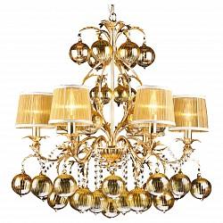 Подвесная люстра Arte LampТекстильные плафоны<br>Артикул - AR_A1199LM-6GO,Бренд - Arte Lamp (Италия),Коллекция - Monarch,Гарантия, месяцы - 24,Высота, мм - 770-2040,Диаметр, мм - 750,Тип лампы - компактная люминесцентная [КЛЛ] ИЛИнакаливания ИЛИсветодиодная [LED],Общее кол-во ламп - 6,Напряжение питания лампы, В - 220,Максимальная мощность лампы, Вт - 60,Лампы в комплекте - отсутствуют,Цвет плафонов и подвесок - желтый,Тип поверхности плафонов - матовый, прозрачный,Материал плафонов и подвесок - стекло, текстиль,Цвет арматуры - золото,Тип поверхности арматуры - глянцевый,Материал арматуры - металл,Возможность подлючения диммера - можно, если установить лампу накаливания,Тип цоколя лампы - E14,Класс электробезопасности - I,Общая мощность, Вт - 360,Степень пылевлагозащиты, IP - 20,Диапазон рабочих температур - комнатная температура,Дополнительные параметры - покрытие золотая фольга<br>