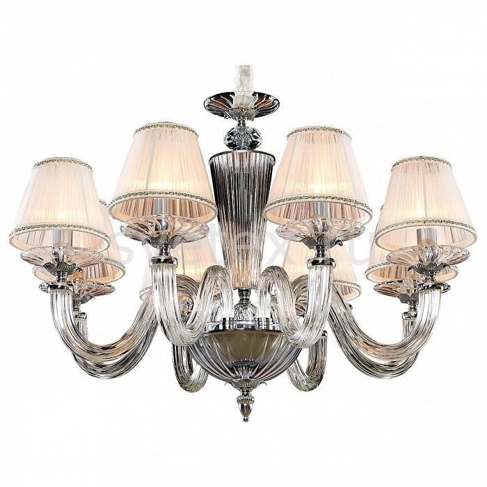 Подвесная люстра CitiluxПотолочные светильники и люстры<br>Артикул - CL436181,Бренд - Citilux (Дания),Коллекция - Медея,Гарантия, месяцы - 24,Высота, мм - 750-1250,Диаметр, мм - 690,Тип лампы - компактная люминесцентная [КЛЛ] ИЛИнакаливания ИЛИсветодиодная [LED],Общее кол-во ламп - 8,Напряжение питания лампы, В - 220,Максимальная мощность лампы, Вт - 60,Лампы в комплекте - отсутствуют,Цвет плафонов и подвесок - белый,Тип поверхности плафонов - прозрачный,Материал плафонов и подвесок - текстиль,Цвет арматуры - неокрашенный, хром,Тип поверхности арматуры - глянцевый, прозрачный,Материал арматуры - металл, стекло,Количество плафонов - 8,Возможность подлючения диммера - можно, если установить лампу накаливания,Тип цоколя лампы - E14,Класс электробезопасности - I,Общая мощность, Вт - 480,Степень пылевлагозащиты, IP - 20,Диапазон рабочих температур - комнатная температура,Дополнительные параметры - способ крепления светильника к потолку - на монтажной пластине, светильник регулируется по высоте<br>