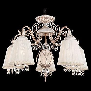 Подвесная люстра StrotskisСветильники<br>Артикул - EV_72981,Бренд - Strotskis (Китай),Коллекция - 10007,Гарантия, месяцы - 24,Высота, мм - 930,Диаметр, мм - 580,Тип лампы - компактная люминесцентная [КЛЛ] ИЛИнакаливания ИЛИсветодиодная [LED],Общее кол-во ламп - 5,Напряжение питания лампы, В - 220,Максимальная мощность лампы, Вт - 40,Лампы в комплекте - отсутствуют,Цвет плафонов и подвесок - белый, неокрашенный,Тип поверхности плафонов - матовый, прозрачный,Материал плафонов и подвесок - текстиль, хрусталь,Цвет арматуры - белый с золотой патиной,Тип поверхности арматуры - матовый, рельефный,Материал арматуры - металл,Количество плафонов - 5,Возможность подлючения диммера - можно, если установить лампу накаливания,Тип цоколя лампы - E14,Класс электробезопасности - I,Общая мощность, Вт - 200,Степень пылевлагозащиты, IP - 20,Диапазон рабочих температур - комнатная температура,Дополнительные параметры - способ крепления светильника к потолку - на крюке, регулируется по высоте<br>