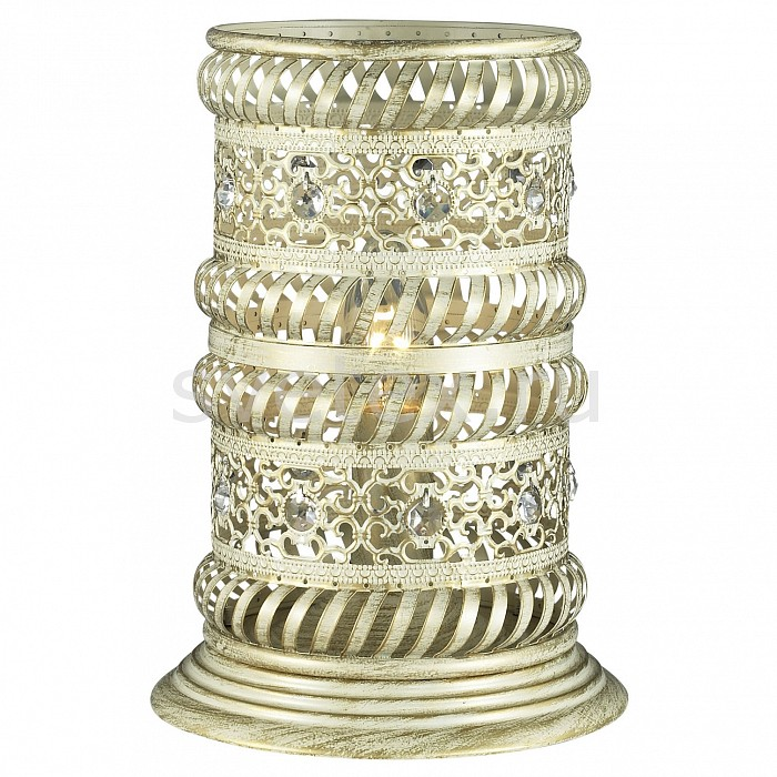 Настольная лампа декоративная FavouriteСветильники<br>Артикул - FV_1622-1T,Бренд - Favourite (Германия),Коллекция - Arabia,Гарантия, месяцы - 24,Высота, мм - 255,Диаметр, мм - 180,Тип лампы - компактная люминесцентная [КЛЛ] ИЛИнакаливания ИЛИсветодиодная [LED],Общее кол-во ламп - 1,Напряжение питания лампы, В - 220,Максимальная мощность лампы, Вт - 40,Лампы в комплекте - отсутствуют,Цвет плафонов и подвесок - слоновая кость с позолотой, неокрашенный,Тип поверхности плафонов - матовый, прозрачный,Материал плафонов и подвесок - металл, хрусталь,Цвет арматуры - слоновая кость с позолотой, неокрашенный,Тип поверхности арматуры - матовый,Материал арматуры - металл,Количество плафонов - 1,Наличие выключателя, диммера или пульта ДУ - выключатель на проводе,Компоненты, входящие в комплект - провод электропитания с вилкой без заземления,Тип цоколя лампы - E14,Класс электробезопасности - II,Степень пылевлагозащиты, IP - 20,Диапазон рабочих температур - комнатная температура<br>
