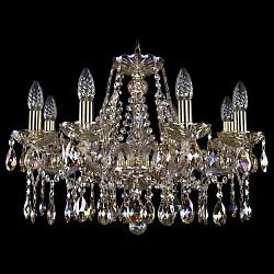 Подвесная люстра Bohemia Ivele CrystalБолее 6 ламп<br>Артикул - BI_1413_8_200_G_M701,Бренд - Bohemia Ivele Crystal (Чехия),Коллекция - 1413,Гарантия, месяцы - 24,Высота, мм - 400,Диаметр, мм - 570,Размер упаковки, мм - 450x450x200,Тип лампы - компактная люминесцентная [КЛЛ] ИЛИнакаливания ИЛИсветодиодная [LED],Общее кол-во ламп - 8,Напряжение питания лампы, В - 220,Максимальная мощность лампы, Вт - 40,Лампы в комплекте - отсутствуют,Цвет плафонов и подвесок - неокрашенный,Тип поверхности плафонов - прозрачный,Материал плафонов и подвесок - хрусталь Swarovski,Цвет арматуры - золото, неокрашенный,Тип поверхности арматуры - глянцевый, прозрачный, рельефный,Материал арматуры - металл, стекло Swarovski,Возможность подлючения диммера - можно, если установить лампу накаливания,Форма и тип колбы - свеча ИЛИ свеча на ветру,Тип цоколя лампы - E14,Класс электробезопасности - I,Общая мощность, Вт - 320,Степень пылевлагозащиты, IP - 20,Диапазон рабочих температур - комнатная температура,Дополнительные параметры - способ крепления светильника к потолку - на крюке, указана высота светильника без подвеса<br>