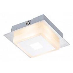 Накладной светильник GloboКвадратные<br>Артикул - GB_41111-1,Бренд - Globo (Австрия),Коллекция - Quadralla,Гарантия, месяцы - 24,Высота, мм - 40,Тип лампы - светодиодная [LED],Общее кол-во ламп - 1,Максимальная мощность лампы, Вт - 5,Лампы в комплекте - светодиодная [LED],Цвет плафонов и подвесок - белый,Тип поверхности плафонов - матовый,Материал плафонов и подвесок - полимер,Цвет арматуры - хром,Тип поверхности арматуры - глянцевый,Материал арматуры - металл,Возможность подлючения диммера - нельзя,Класс электробезопасности - I,Степень пылевлагозащиты, IP - 20,Диапазон рабочих температур - комнатная температура,Дополнительные параметры - способ крепления к потолку - на монтажной пластине<br>