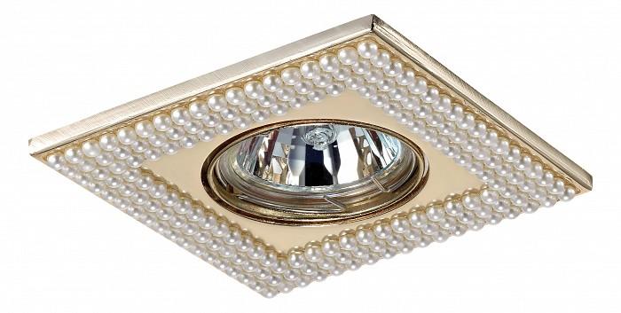 Встраиваемый светильник NovotechСветильники для натяжных потолков<br>Артикул - NV_370145,Бренд - Novotech (Венгрия),Коллекция - Pearl,Гарантия, месяцы - 24,Время изготовления, дней - 1,Длина, мм - 102,Ширина, мм - 102,Глубина, мм - 16,Размер врезного отверстия, мм - 75,Тип лампы - галогеновая ИЛИсветодиодная [LED],Общее кол-во ламп - 1,Напряжение питания лампы, В - 12,Максимальная мощность лампы, Вт - 50,Лампы в комплекте - отсутствуют,Цвет арматуры - белый, золото,Тип поверхности арматуры - глянцевый, рельефный,Материал арматуры - искусственный жемчуг, цинк,Необходимые компоненты - трансформатор 12В,Компоненты, входящие в комплект - нет,Форма и тип колбы - полусферическая с рефлектором,Тип цоколя лампы - GX5.3,Класс электробезопасности - III,Напряжение питания, В - 220,Степень пылевлагозащиты, IP - 20,Диапазон рабочих температур - комнатная температура,Дополнительные параметры - поворотный светильник — угол поворота 30°<br>