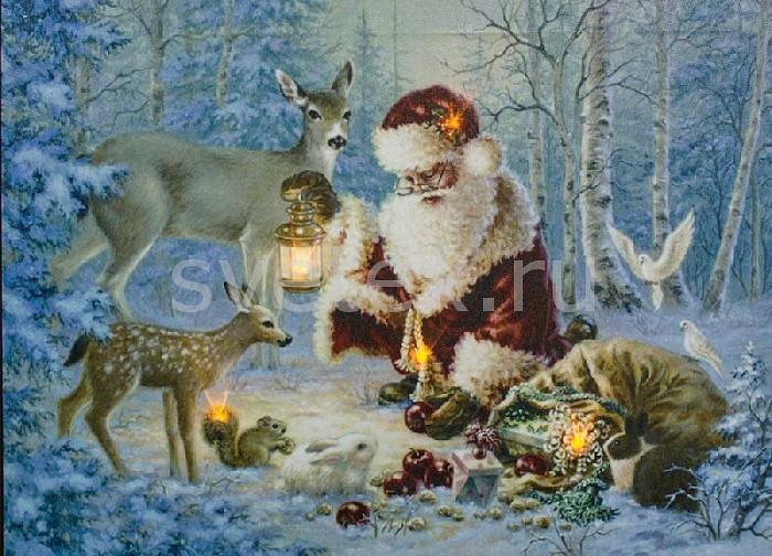 Фото Панно световое Feron x 30 см x 40 см LT113 Санта Клаус