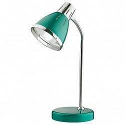 Настольная лампа Odeon LightМеталлический плафон<br>Артикул - OD_2223_1T,Бренд - Odeon Light (Италия),Коллекция - Hint,Гарантия, месяцы - 24,Время изготовления, дней - 1,Высота, мм - 270,Диаметр, мм - 160,Тип лампы - компактная люминесцентная [КЛЛ] ИЛИнакаливания ИЛИсветодиодная [LED],Общее кол-во ламп - 1,Напряжение питания лампы, В - 220,Максимальная мощность лампы, Вт - 60,Лампы в комплекте - отсутствуют,Цвет плафонов и подвесок - зеленый с каймой,Тип поверхности плафонов - глянцевый,Материал плафонов и подвесок - металл,Цвет арматуры - зеленый, хром,Тип поверхности арматуры - глянцевый,Материал арматуры - металл,Тип цоколя лампы - E27,Класс электробезопасности - II,Степень пылевлагозащиты, IP - 20,Диапазон рабочих температур - комнатная температура,Дополнительные параметры - поворотный светильник<br>