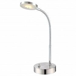 Настольная лампа GloboПолимерные<br>Артикул - GB_24122,Бренд - Globo (Австрия),Коллекция - Deniz,Гарантия, месяцы - 24,Высота, мм - 300,Размер упаковки, мм - 120x120x215,Тип лампы - светодиодная [LED],Общее кол-во ламп - 1,Напряжение питания лампы, В - 11,Максимальная мощность лампы, Вт - 3,Лампы в комплекте - светодиодная [LED],Цвет плафонов и подвесок - белый, хром,Тип поверхности плафонов - глянцевый, матовый,Материал плафонов и подвесок - акрил, металл,Цвет арматуры - белый, хром,Тип поверхности арматуры - глянцевый, сатин,Материал арматуры - металл,Класс электробезопасности - II,Степень пылевлагозащиты, IP - 20,Диапазон рабочих температур - комнатная температура,Дополнительные параметры - поворотный светильник<br>