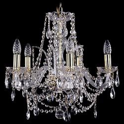 Подвесная люстра Bohemia Ivele Crystal5 или 6 ламп<br>Артикул - BI_1411_5_160_G,Бренд - Bohemia Ivele Crystal (Чехия),Коллекция - 1411,Гарантия, месяцы - 24,Высота, мм - 460,Диаметр, мм - 490,Размер упаковки, мм - 450x450x200,Тип лампы - компактная люминесцентная [КЛЛ] ИЛИнакаливания ИЛИсветодиодная [LED],Общее кол-во ламп - 5,Напряжение питания лампы, В - 220,Максимальная мощность лампы, Вт - 40,Лампы в комплекте - отсутствуют,Цвет плафонов и подвесок - неокрашенный,Тип поверхности плафонов - прозрачный,Материал плафонов и подвесок - хрусталь,Цвет арматуры - золото, неокрашенный,Тип поверхности арматуры - глянцевый, прозрачный, рельефный,Материал арматуры - металл, стекло,Возможность подлючения диммера - можно, если установить лампу накаливания,Форма и тип колбы - свеча ИЛИ свеча на ветру,Тип цоколя лампы - E14,Класс электробезопасности - I,Общая мощность, Вт - 200,Степень пылевлагозащиты, IP - 20,Диапазон рабочих температур - комнатная температура,Дополнительные параметры - способ крепления светильника к потолку - на крюке, указана высота светильника без подвеса<br>