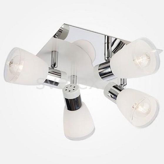 Спот EurosvetКвадратные<br>Артикул - EV_77291,Бренд - Eurosvet (Китай),Коллекция - 20048,Гарантия, месяцы - 24,Длина, мм - 252,Ширина, мм - 252,Выступ, мм - 158,Тип лампы - компактная люминесцентная [КЛЛ] ИЛИнакаливания ИЛИсветодиодная [LED],Общее кол-во ламп - 4,Напряжение питания лампы, В - 220,Максимальная мощность лампы, Вт - 40,Лампы в комплекте - отсутствуют,Цвет плафонов и подвесок - белый с прозрачной каймой,Тип поверхности плафонов - матовый,Материал плафонов и подвесок - стекло,Цвет арматуры - хром,Тип поверхности арматуры - глянцевый,Материал арматуры - металл,Количество плафонов - 4,Возможность подлючения диммера - можно, если установить лампу накаливания,Тип цоколя лампы - E14,Класс электробезопасности - I,Общая мощность, Вт - 160,Степень пылевлагозащиты, IP - 20,Диапазон рабочих температур - комнатная температура,Дополнительные параметры - поворотный светильник<br>