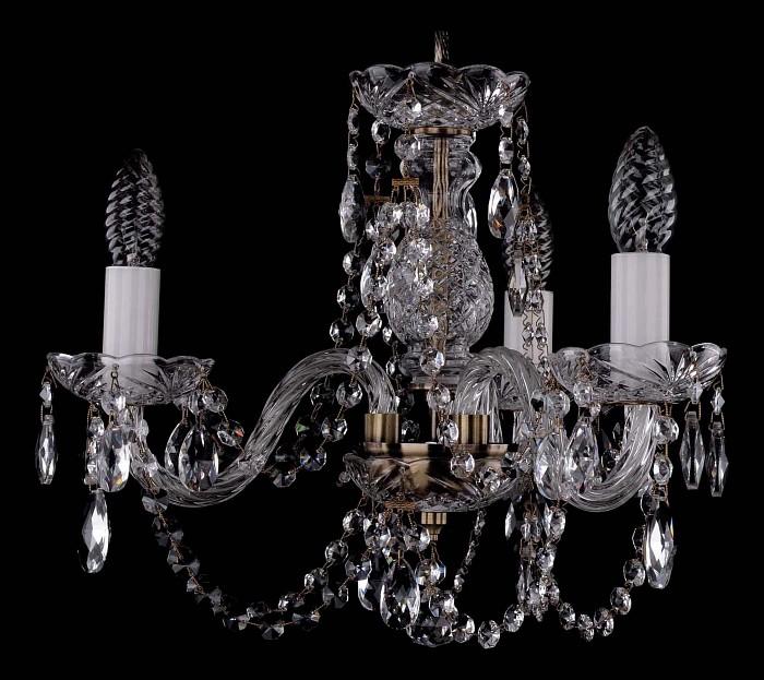 Фото Подвесная люстра Bohemia Ivele Crystal 1406 1406/3/141/Pa