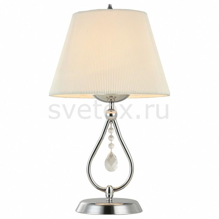 Настольная лампа MaytoniС абажуром<br>Артикул - MY_ARM334-11-N,Бренд - Maytoni (Германия),Коллекция - Talia 1,Гарантия, месяцы - 24,Высота, мм - 500,Диаметр, мм - 280,Тип лампы - компактная люминесцентная [КЛЛ] ИЛИнакаливания ИЛИсветодиодная [LED],Общее кол-во ламп - 1,Напряжение питания лампы, В - 220,Максимальная мощность лампы, Вт - 40,Лампы в комплекте - отсутствуют,Цвет плафонов и подвесок - белый, неокрашенный,Тип поверхности плафонов - матовый, прозрачный, рельефный,Материал плафонов и подвесок - текстиль, хрусталь,Цвет арматуры - никель,Тип поверхности арматуры - глянцевый,Материал арматуры - металл,Количество плафонов - 1,Наличие выключателя, диммера или пульта ДУ - выключатель на проводе,Компоненты, входящие в комплект - провод электропитания с вилкой без заземления,Тип цоколя лампы - E14,Класс электробезопасности - II,Степень пылевлагозащиты, IP - 20,Диапазон рабочих температур - комнатная температура<br>