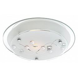 Накладной светильник GloboКруглые<br>Артикул - GB_48090,Бренд - Globo (Австрия),Коллекция - Ballerina I,Гарантия, месяцы - 24,Диаметр, мм - 250,Тип лампы - компактная люминесцентная [КЛЛ] ИЛИнакаливания ИЛИсветодиодная [LED],Общее кол-во ламп - 1,Напряжение питания лампы, В - 220,Максимальная мощность лампы, Вт - 60,Лампы в комплекте - отсутствуют,Цвет плафонов и подвесок - белый с неокрашенным рисунком,Тип поверхности плафонов - матовый, прозрачный,Материал плафонов и подвесок - стекло,Цвет арматуры - хром,Тип поверхности арматуры - глянцевый,Материал арматуры - металл,Количество плафонов - 1,Возможность подлючения диммера - можно, если установить лампу накаливания,Тип цоколя лампы - E27,Класс электробезопасности - I,Степень пылевлагозащиты, IP - 20,Диапазон рабочих температур - комнатная температура<br>
