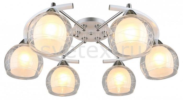 Потолочная люстра OmniluxЛюстры<br>Артикул - OM_OML-28313-06,Бренд - Omnilux (Италия),Коллекция - Saragossa,Гарантия, месяцы - 24,Время изготовления, дней - 1,Длина, мм - 665,Ширина, мм - 535,Высота, мм - 195,Тип лампы - компактная люминесцентная [КЛЛ] ИЛИнакаливания ИЛИсветодиодная [LED],Общее кол-во ламп - 6,Напряжение питания лампы, В - 220,Максимальная мощность лампы, Вт - 60,Лампы в комплекте - отсутствуют,Цвет плафонов и подвесок - белый, неокрашенный с матовым рисунком,Тип поверхности плафонов - матовый, прозрачный,Материал плафонов и подвесок - стекло,Цвет арматуры - белый, хром,Тип поверхности арматуры - глянцевый,Материал арматуры - металл,Количество плафонов - 6,Возможность подлючения диммера - можно, если установить лампу накаливания,Тип цоколя лампы - E27,Класс электробезопасности - I,Общая мощность, Вт - 360,Степень пылевлагозащиты, IP - 20,Диапазон рабочих температур - комнатная температура,Дополнительные параметры - способ крепления светильника к потолку – на монтажной пластине<br>