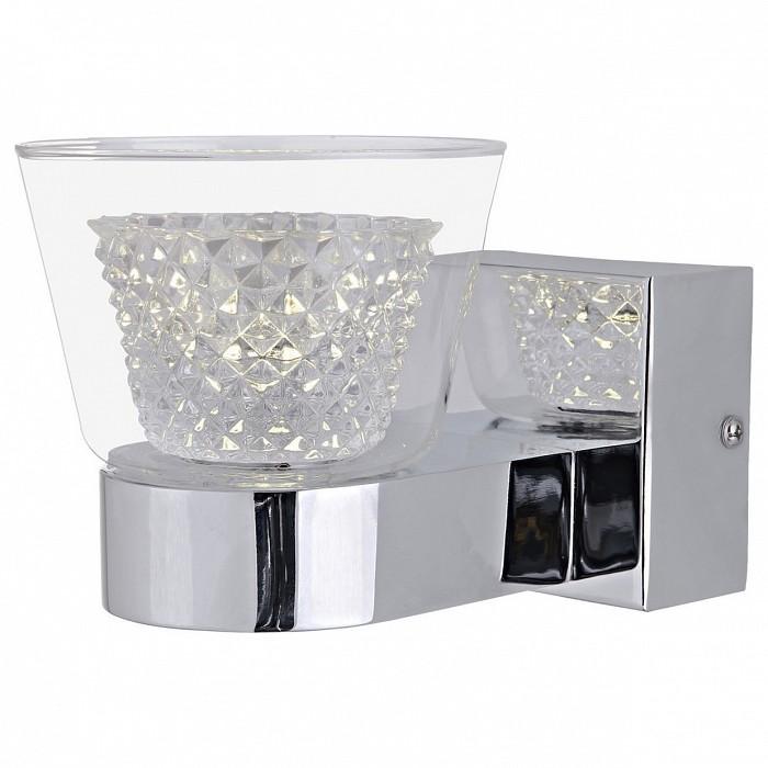 Бра Kink LightНастенные светильники<br>Артикул - KL_6112-1,Бренд - Kink Light (Китай),Коллекция - Азан,Гарантия, месяцы - 24,Ширина, мм - 120,Высота, мм - 110,Выступ, мм - 170,Тип лампы - светодиодная [LED],Общее кол-во ламп - 1,Максимальная мощность лампы, Вт - 3,Цвет лампы - белый,Лампы в комплекте - светодиодная [LED],Цвет плафонов и подвесок - неокрашенный,Тип поверхности плафонов - прозрачный, рельефный,Материал плафонов и подвесок - стекло,Цвет арматуры - хром,Тип поверхности арматуры - глянцевый,Материал арматуры - металл,Количество плафонов - 1,Возможность подлючения диммера - нельзя,Цветовая температура, K - 4000 K,Световой поток, лм - 240,Экономичнее лампы накаливания - в 9, 7 раза,Светоотдача, лм/Вт - 80,Класс электробезопасности - I,Напряжение питания, В - 220,Степень пылевлагозащиты, IP - 20,Диапазон рабочих температур - комнатная температура,Дополнительные параметры - способ крепления светильника к стене – на монтажной пластине, светильник предназначен для использования со скрытой проводкой<br>