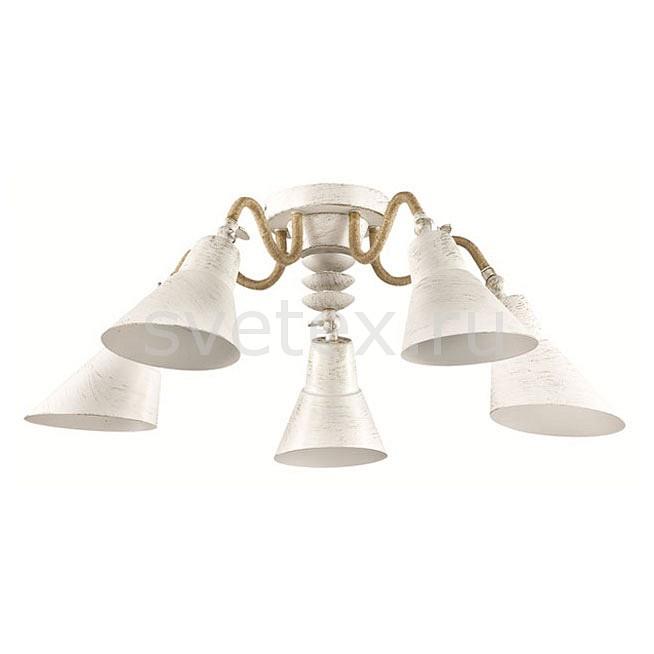 Потолочная люстра LumionСветильники<br>Артикул - LMN_3246_5C,Бренд - Lumion (Италия),Коллекция - Argo,Гарантия, месяцы - 24,Высота, мм - 245,Диаметр, мм - 750,Размер упаковки, мм - 250x560x310,Тип лампы - компактная люминесцентная [КЛЛ] ИЛИнакаливания ИЛИсветодиодная [LED],Общее кол-во ламп - 5,Напряжение питания лампы, В - 220,Максимальная мощность лампы, Вт - 60,Лампы в комплекте - отсутствуют,Цвет плафонов и подвесок - белый с золотой патиной,Тип поверхности плафонов - матовый,Материал плафонов и подвесок - металл,Цвет арматуры - белый с золотой патиной, золото,Тип поверхности арматуры - матовый,Материал арматуры - канатная нить, металл,Количество плафонов - 5,Возможность подлючения диммера - можно, если установить лампу накаливания,Тип цоколя лампы - E27,Класс электробезопасности - I,Общая мощность, Вт - 300,Степень пылевлагозащиты, IP - 20,Диапазон рабочих температур - комнатная температура,Дополнительные параметры - способ крепления к потолку - на монтажной пластине<br>