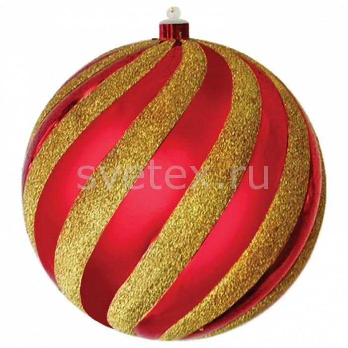 Елочная игрушка Неон-НайтПримечание - отпускается кратно упаковке - 12 шт,Артикул - NN_502-068,Бренд - Неон-Найт (Россия),Коллекция - Шар-карамель,Время изготовления, дней - 1,Диаметр, мм - 200,Диаметр - 20 см,Цвет - разноцветный полосатый: золотой, красный,Материал - полимер<br>
