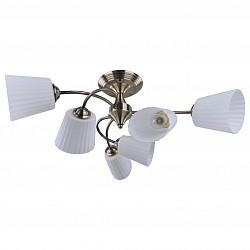 Люстра на штанге IDLamp5 или 6 ламп<br>Артикул - ID_879_6PF-Oldbronze,Бренд - IDLamp (Италия),Коллекция - 879,Гарантия, месяцы - 24,Высота, мм - 230,Диаметр, мм - 570,Тип лампы - компактная люминесцентная [КЛЛ] ИЛИнакаливания ИЛИсветодиодная [LED],Общее кол-во ламп - 6,Напряжение питания лампы, В - 220,Максимальная мощность лампы, Вт - 40,Лампы в комплекте - отсутствуют,Цвет плафонов и подвесок - белый,Тип поверхности плафонов - матовый, рельефный,Материал плафонов и подвесок - стекло,Цвет арматуры - бронза,Тип поверхности арматуры - глянцевый,Материал арматуры - металл,Возможность подлючения диммера - можно, если установить лампу накаливания,Тип цоколя лампы - E27,Общая мощность, Вт - 240,Степень пылевлагозащиты, IP - 20,Диапазон рабочих температур - комнатная температура<br>