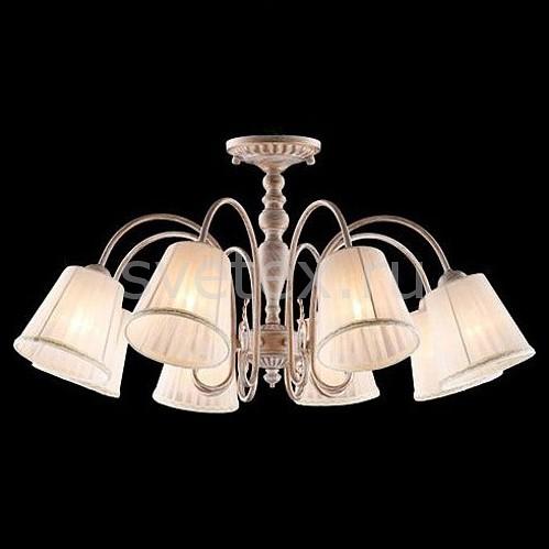 Подвесная люстра EurosvetСветильники<br>Артикул - EV_77079,Бренд - Eurosvet (Китай),Коллекция - Katrin,Гарантия, месяцы - 24,Высота, мм - 370-670,Диаметр, мм - 735,Тип лампы - компактная люминесцентная [КЛЛ] ИЛИнакаливания ИЛИсветодиодная [LED],Общее кол-во ламп - 8,Напряжение питания лампы, В - 220,Максимальная мощность лампы, Вт - 40,Лампы в комплекте - отсутствуют,Цвет плафонов и подвесок - бежевый,Тип поверхности плафонов - матовый,Материал плафонов и подвесок - текстиль,Цвет арматуры - белый с золотой патиной,Тип поверхности арматуры - глянцевый, матовый,Материал арматуры - металл,Количество плафонов - 8,Возможность подлючения диммера - можно, если установить лампу накаливания,Тип цоколя лампы - E14,Класс электробезопасности - I,Общая мощность, Вт - 320,Степень пылевлагозащиты, IP - 20,Диапазон рабочих температур - комнатная температура,Дополнительные параметры - способ крепления светильника к потолку - на крюке, светильник регулируется по высоте<br>
