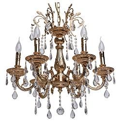 Подвесная люстра MW-Light5 или 6 ламп<br>Артикул - MW_301019406,Бренд - MW-Light (Германия),Коллекция - Свеча 1,Гарантия, месяцы - 24,Высота, мм - 650-930,Диаметр, мм - 600,Тип лампы - компактная люминесцентная [КЛЛ] ИЛИнакаливания ИЛИсветодиодная [LED],Общее кол-во ламп - 6,Напряжение питания лампы, В - 220,Максимальная мощность лампы, Вт - 60,Лампы в комплекте - отсутствуют,Цвет плафонов и подвесок - неокрашенный,Тип поверхности плафонов - прозрачный,Материал плафонов и подвесок - хрусталь,Цвет арматуры - золото французское,Тип поверхности арматуры - матовый, рельефный,Материал арматуры - металл,Возможность подлючения диммера - можно, если установить лампу накаливания,Форма и тип колбы - свеча ИЛИ свеча на ветру,Тип цоколя лампы - E14,Класс электробезопасности - I,Общая мощность, Вт - 360,Степень пылевлагозащиты, IP - 20,Диапазон рабочих температур - комнатная температура,Дополнительные параметры - способ крепления светильника к потолку - на крюке, регулируется по высоте<br>
