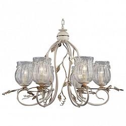 Подвесная люстра Bogates5 или 6 ламп<br>Артикул - EV_70617,Бренд - Bogates (Китай),Коллекция - 537,Гарантия, месяцы - 24,Высота, мм - 1050,Диаметр, мм - 850,Тип лампы - компактная люминесцентная [КЛЛ] ИЛИнакаливания ИЛИсветодиодная [LED],Общее кол-во ламп - 6,Напряжение питания лампы, В - 220,Максимальная мощность лампы, Вт - 60,Лампы в комплекте - отсутствуют,Цвет плафонов и подвесок - неокрашенный,Тип поверхности плафонов - прозрачный, рельефный,Материал плафонов и подвесок - стекло,Цвет арматуры - белый, золото,Тип поверхности арматуры - матовый,Материал арматуры - металл,Возможность подлючения диммера - можно, если установить лампу накаливания,Тип цоколя лампы - E14,Класс электробезопасности - I,Общая мощность, Вт - 360,Степень пылевлагозащиты, IP - 20,Диапазон рабочих температур - комнатная температура,Дополнительные параметры - способ крепления светильника к потолку - на крюке, регулируется по высоте<br>
