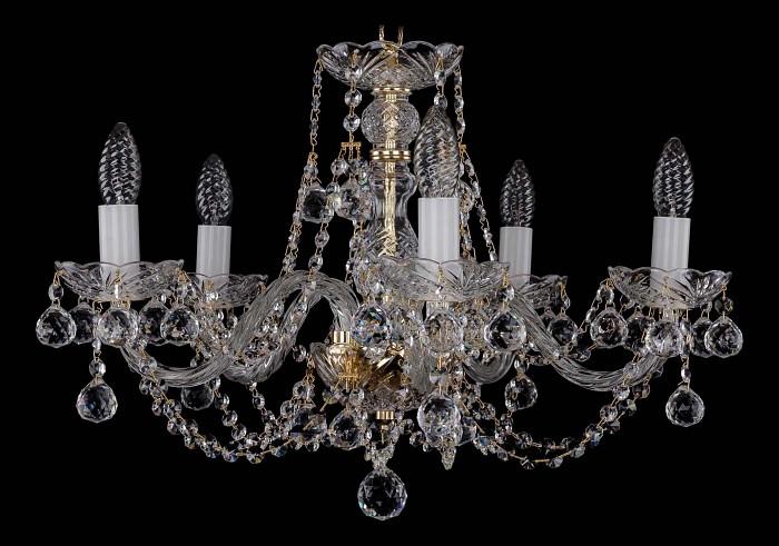 Фото Подвесная люстра Bohemia Ivele Crystal 1406 1406/5/195/G/Balls