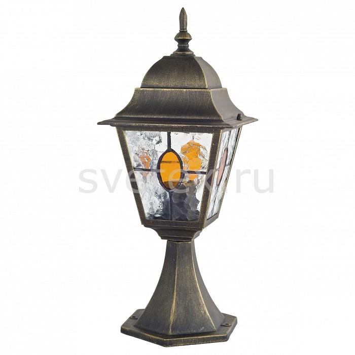 Наземный низкий светильник FavouriteСветильники<br>Артикул - FV_1805-1T,Бренд - Favourite (Германия),Коллекция - Zagreb,Гарантия, месяцы - 24,Время изготовления, дней - 1,Ширина, мм - 180,Высота, мм - 450,Выступ, мм - 180,Тип лампы - компактная люминесцентная [КЛЛ] ИЛИнакаливания ИЛИсветодиодная [LED],Общее кол-во ламп - 1,Напряжение питания лампы, В - 220,Максимальная мощность лампы, Вт - 100,Лампы в комплекте - отсутствуют,Цвет плафонов и подвесок - коньячный, неокрашенный,Тип поверхности плафонов - прозрачный,Материал плафонов и подвесок - стекло,Цвет арматуры - черный с золотой патиной,Тип поверхности арматуры - матовый,Материал арматуры - металл,Количество плафонов - 1,Тип цоколя лампы - E27,Класс электробезопасности - I,Степень пылевлагозащиты, IP - 44,Диапазон рабочих температур - от -40^С до +40^C,Дополнительные параметры - стиль Тиффани<br>