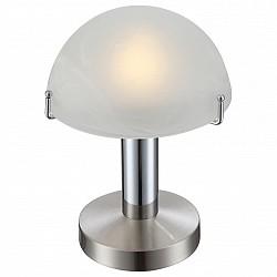 Настольная лампа GloboСтеклянный плафон<br>Артикул - GB_21934,Бренд - Globo (Австрия),Коллекция - Otti,Гарантия, месяцы - 24,Высота, мм - 225,Диаметр, мм - 150,Размер упаковки, мм - 170x160x195,Тип лампы - светодиодная [LED],Общее кол-во ламп - 1,Напряжение питания лампы, В - 220,Максимальная мощность лампы, Вт - 3,Лампы в комплекте - светодиодная [LED] E14,Цвет плафонов и подвесок - белый,Тип поверхности плафонов - матовый,Материал плафонов и подвесок - стекло,Цвет арматуры - никель,Тип поверхности арматуры - сатин,Материал арматуры - металл,Тип цоколя лампы - E14,Класс электробезопасности - II,Степень пылевлагозащиты, IP - 20,Диапазон рабочих температур - комнатная температура<br>