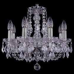 Подвесная люстра Bohemia Ivele CrystalБолее 6 ламп<br>Артикул - BI_1406_8_141_Ni_Leafs,Бренд - Bohemia Ivele Crystal (Чехия),Коллекция - 1406,Гарантия, месяцы - 24,Высота, мм - 410,Диаметр, мм - 460,Размер упаковки, мм - 450x450x200,Тип лампы - компактная люминесцентная [КЛЛ] ИЛИнакаливания ИЛИсветодиодная [LED],Общее кол-во ламп - 8,Напряжение питания лампы, В - 220,Максимальная мощность лампы, Вт - 40,Лампы в комплекте - отсутствуют,Цвет плафонов и подвесок - неокрашенный,Тип поверхности плафонов - прозрачный,Материал плафонов и подвесок - хрусталь,Цвет арматуры - неокрашенный, никель,Тип поверхности арматуры - глянцевый, прозрачный,Материал арматуры - металл, стекло,Возможность подлючения диммера - можно, если установить лампу накаливания,Форма и тип колбы - свеча,Тип цоколя лампы - E14,Класс электробезопасности - I,Общая мощность, Вт - 320,Степень пылевлагозащиты, IP - 20,Диапазон рабочих температур - комнатная температура,Дополнительные параметры - способ крепления светильника к потолку – на крюке<br>