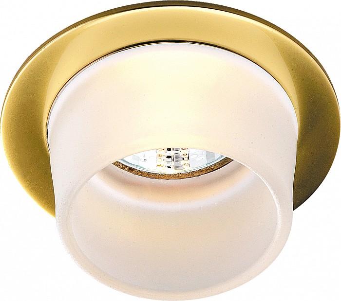 Встраиваемый светильник NovotechКруглые<br>Артикул - NV_369170,Бренд - Novotech (Венгрия),Коллекция - Rainbow,Гарантия, месяцы - 24,Время изготовления, дней - 1,Глубина, мм - 30,Диаметр, мм - 80,Размер врезного отверстия, мм - 65,Тип лампы - галогеновая ИЛИсветодиодная [LED],Общее кол-во ламп - 1,Напряжение питания лампы, В - 12,Максимальная мощность лампы, Вт - 50,Лампы в комплекте - отсутствуют,Цвет плафонов и подвесок - белый,Тип поверхности плафонов - матовый,Материал плафонов и подвесок - стекло,Цвет арматуры - золото,Тип поверхности арматуры - глянцевый,Материал арматуры - дюралюминий,Количество плафонов - 1,Возможность подлючения диммера - можно, если установить галогеновую лампу,Форма и тип колбы - полусферическая с рефлектором ИЛИполусферическая с радиатором,Тип цоколя лампы - GX5.3,Экономичнее лампы накаливания - на 50%,Класс электробезопасности - III,Напряжение питания, В - 220,Степень пылевлагозащиты, IP - 20,Диапазон рабочих температур - комнатная температура,Дополнительные параметры - возможна установка лампы GX5.3 (MR-16) на 12 В с подключением через трансформатор 12 В<br>