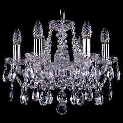 Подвесная люстра Bohemia Ivele Crystal5 или 6 ламп<br>Артикул - BI_1413_6_141_Ni,Бренд - Bohemia Ivele Crystal (Чехия),Коллекция - 1413,Гарантия, месяцы - 12,Высота, мм - 340,Диаметр, мм - 490,Размер упаковки, мм - 450x450x200,Тип лампы - компактная люминесцентная [КЛЛ] ИЛИнакаливания ИЛИсветодиодная [LED],Общее кол-во ламп - 6,Напряжение питания лампы, В - 220,Максимальная мощность лампы, Вт - 40,Лампы в комплекте - отсутствуют,Цвет плафонов и подвесок - неокрашенный,Тип поверхности плафонов - прозрачный,Материал плафонов и подвесок - хрусталь,Цвет арматуры - неокрашенный, никель,Тип поверхности арматуры - глянцевый, прозрачный,Материал арматуры - металл, стекло,Возможность подлючения диммера - можно, если установить лампу накаливания,Форма и тип колбы - свеча ИЛИ свеча на ветру,Тип цоколя лампы - E14,Класс электробезопасности - I,Общая мощность, Вт - 240,Степень пылевлагозащиты, IP - 20,Диапазон рабочих температур - комнатная температура,Дополнительные параметры - способ крепления светильника к потолку – на крюке<br>