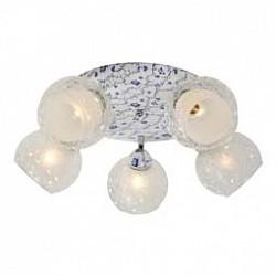 Спот IDLampБолее 4 ламп<br>Артикул - ID_876_5PF-Whiteblue,Бренд - IDLamp (Италия),Коллекция - 876,Гарантия, месяцы - 24,Время изготовления, дней - 1,Диаметр, мм - 550,Тип лампы - компактная люминесцентная [КЛЛ] ИЛИнакаливания ИЛИсветодиодная [LED],Общее кол-во ламп - 5,Напряжение питания лампы, В - 220,Максимальная мощность лампы, Вт - 60,Лампы в комплекте - отсутствуют,Цвет плафонов и подвесок - белый, неокрашенный,Тип поверхности плафонов - матовый, прозрачный, рельефный,Материал плафонов и подвесок - стекло,Цвет арматуры - белый с голубым рисунком,Тип поверхности арматуры - матовый,Материал арматуры - металл,Возможность подлючения диммера - можно, если установить лампу накаливания,Тип цоколя лампы - E27,Общая мощность, Вт - 300,Степень пылевлагозащиты, IP - 20,Диапазон рабочих температур - комнатная температура,Дополнительные параметры - поворотный светильник<br>